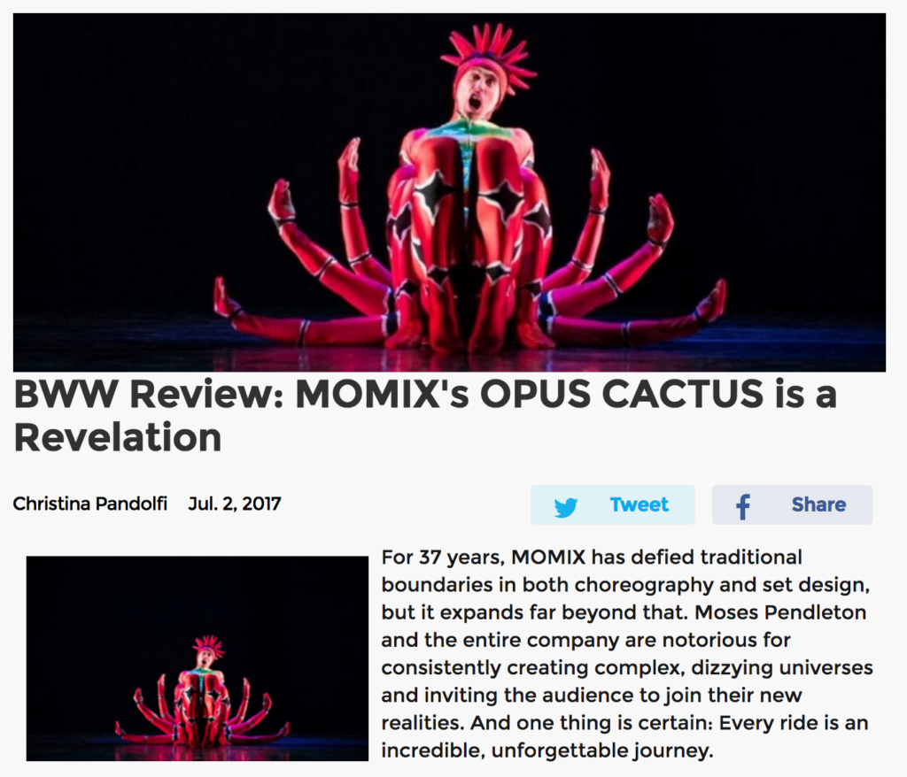 MOMIX Opus Cactus Review Broadway World