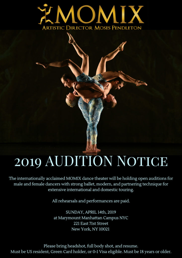 MOMIX 2018 Company Auditions